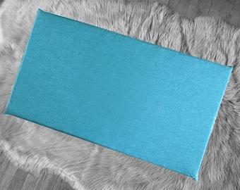 Solid Sea Blue Green IKEA HEMMAHOS Bench Pad Slip Cover
