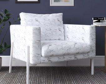 IKEA KOARP Armchair Covers, White Marble Chair Cover