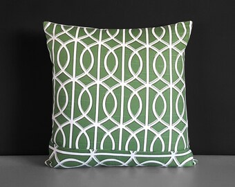 Green Pillow Cover, Dwell Studio Bella Porte Watercress, 18""