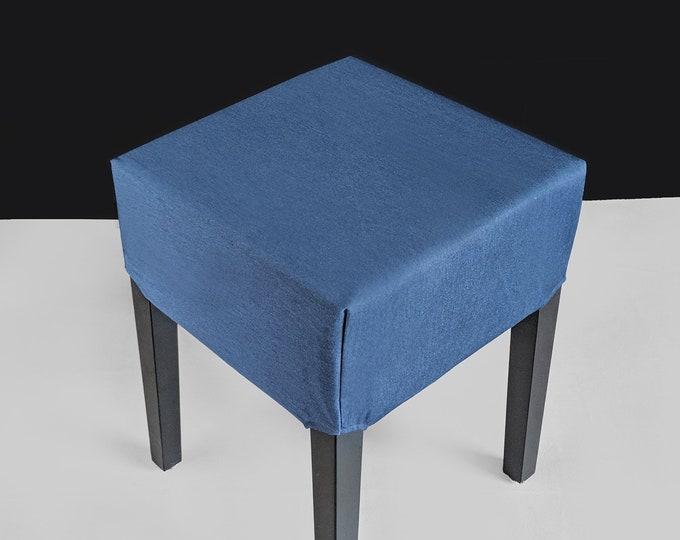 Denim Blue IKEA Nils Stool Cover