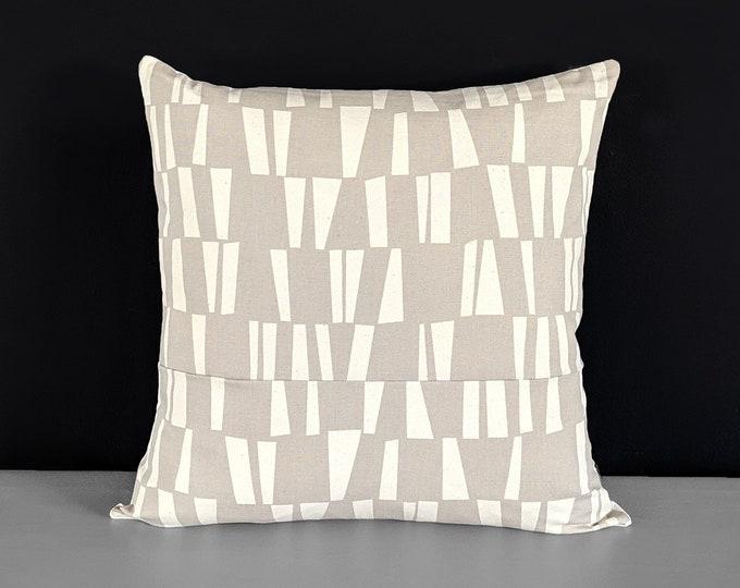 Beige Geometric Pillow Cover, Sticks Maple