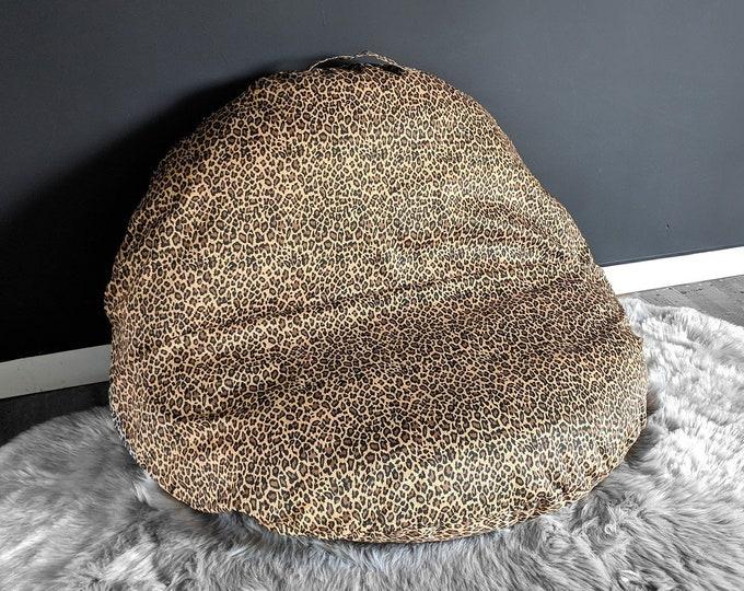 Leopard Animal Print Custom Dihult Slipcover, Customized Ikea Floor Pillow Covers, Ikea Dihult Covers