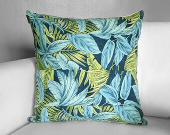 Tropical Palm Leaves, Blue Green Tommy Bahama Print