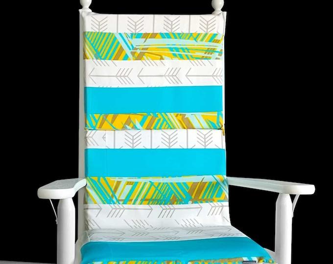 Pattern Patchwork Rocking Chair Cushion