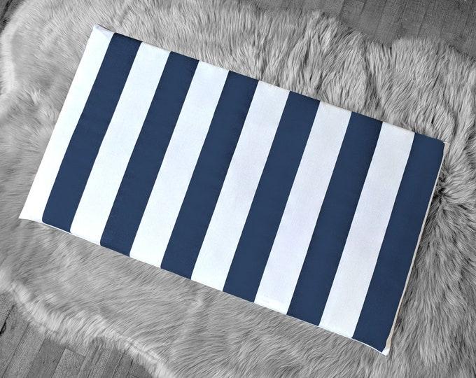 IKEA STUVA Bench Pad Slip Cover,  Navy Stripe