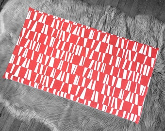 Geometric Red Slip Cover for IKEA HEMMAHOS Bench Pad, Sticks Print