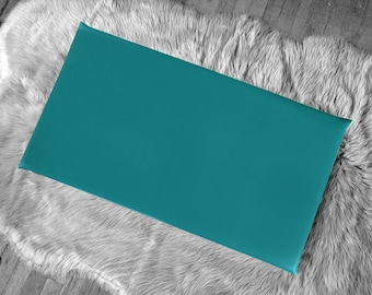 Solid Teal Cotton IKEA HEMMAHOS Bench Pad Slip Cover