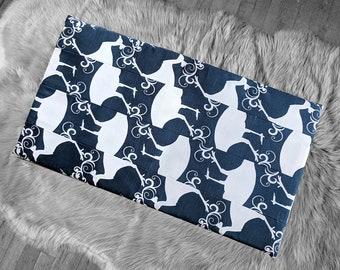 Navy Bird Animal Print IKEA Bench Pad Slip Cover