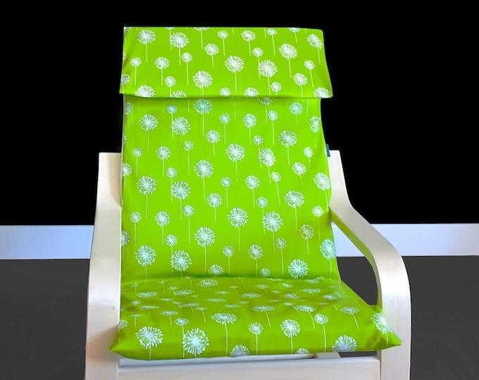 Green Dandelion IKEA KIDS POÄNG Cushion Seat Cover