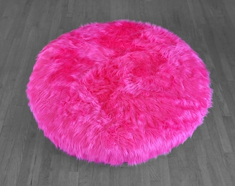 IKEA Dihult Slipcover, Hot Pink Fur, Ikea Floor Pillow Covers