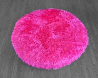 Hot Pink Fur Custom Dihult Slipcover, Customized Ikea Floor Pillow Covers, Ikea Dihult Covers