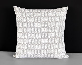 """Gray Small Feathers Pillow Cover 18"""" x 18"""""""