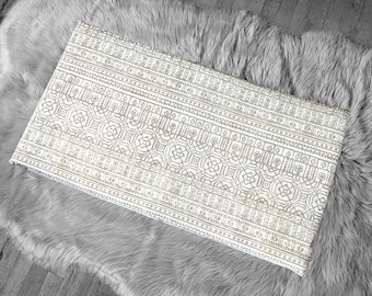 Patchwork Mexican Pattern, Beige IKEA STUVA Bench Pad Slip Cover