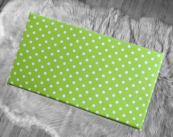 Lime Green Polka Dot, IKEA STUVA Bench Pad Slip Cover