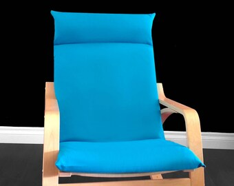 Turquoise Ikea Poang Chair Cover, Solid Blue Ikea Seat Cover