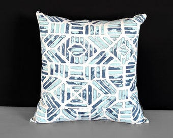 Tribal Indigo Blue Pillow Cover