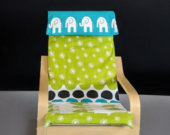 Green Dandelion Blue Elephant, Dandelion Patchwork, Ikea Childs Poang Chair Cover