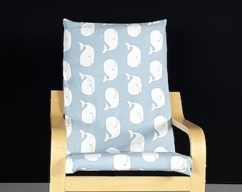 Blue Whale Kids Poang Seat Cover