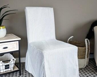 Navy Ticking Stripe IKEA HENRIKSDAL Seat Cover
