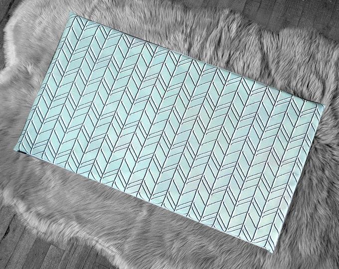 Chevron Pattern, Light Blue IKEA STUVA Bench Pad Slip Cover, Zig Zag