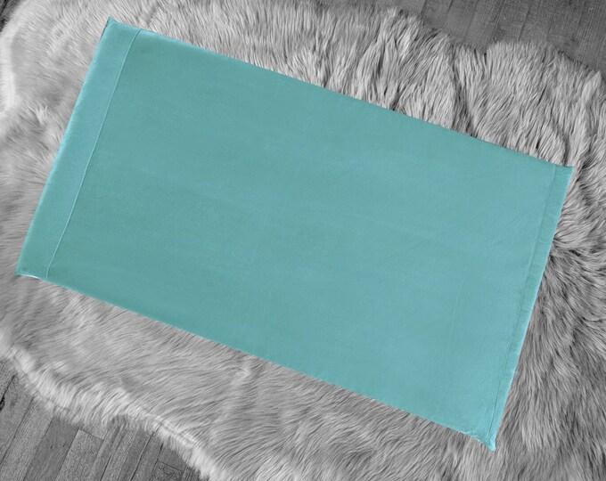 Seafoam Suede Blue Green IKEA HEMMAHOS Bench Pad Slip Cover