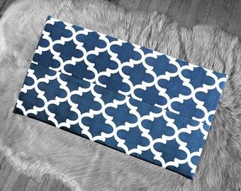 Navy Blue Indian Ikat Print, IKEA STUVA Bench Pad Slip Cover