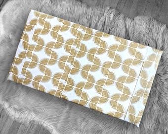 Metallic Gold Tribal Pattern, IKEA STUVA Bench Pad Slip Cover