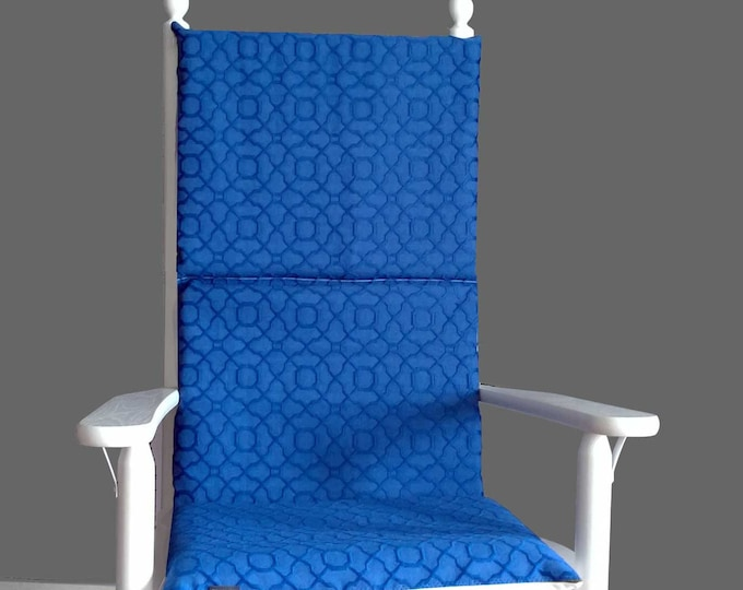 Navy Blue Rocking Chair Pad