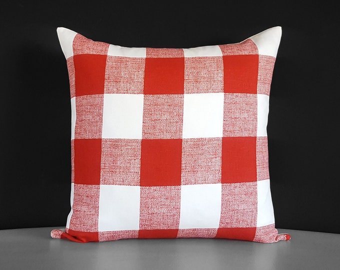 Buffalo Check Red, Plaid Pillow Cover