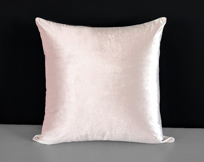 Velvet Blush Pink Cushion Cover
