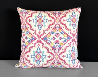 Pink Moroccan Print Pillow Cover