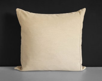 Sunbrella Outdoor Solid Beige Pillow Cover