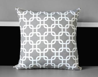 Gray Geometric Print Pillow Cover