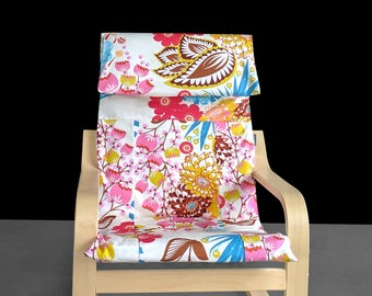 SALE Kids Ikea Poang Seat Cover, Colorful Spring Flowers