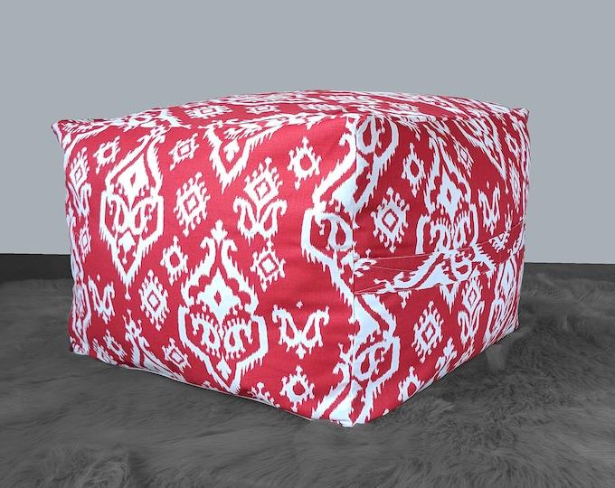 Red Indian Pattern Custom IKEA Jordbro Bean Bag Covers