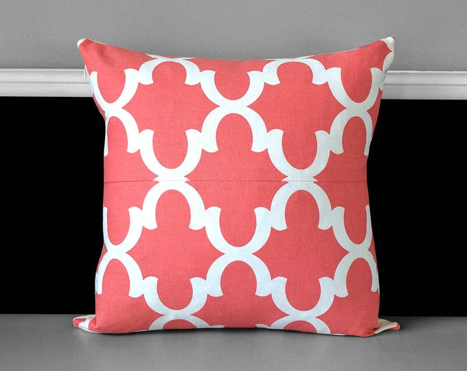 Pillow Cover - Fynn Coral Pink