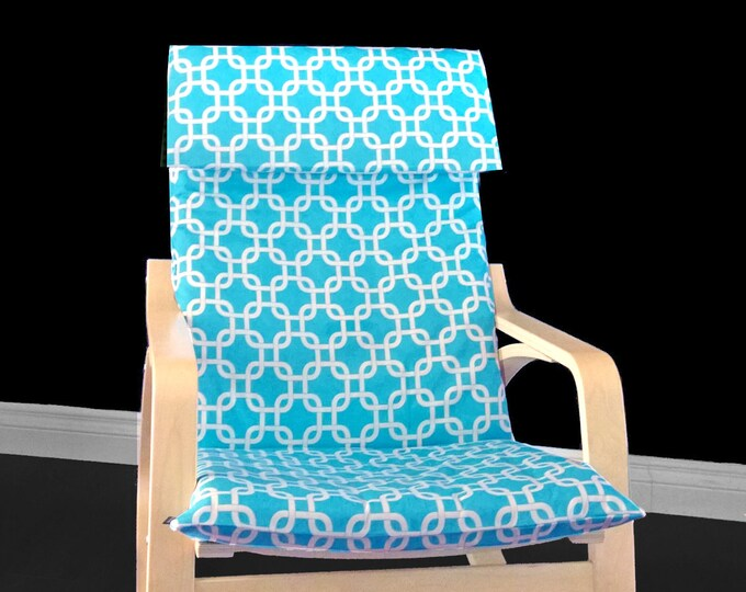 Turquoise Summerhouse Ikea Poang Chair Cover