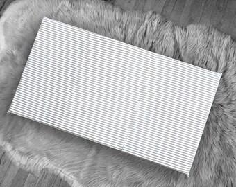 Black Ticking Stripe, IKEA STUVA Bench Pad Slip Cover