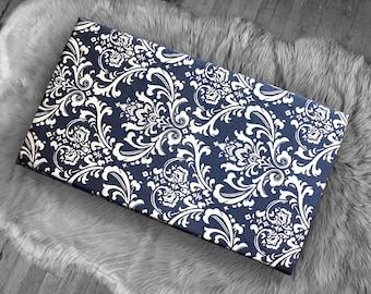 Damask Print, Navy Blue IKEA STUVA Bench Pad Slip Cover, Floral