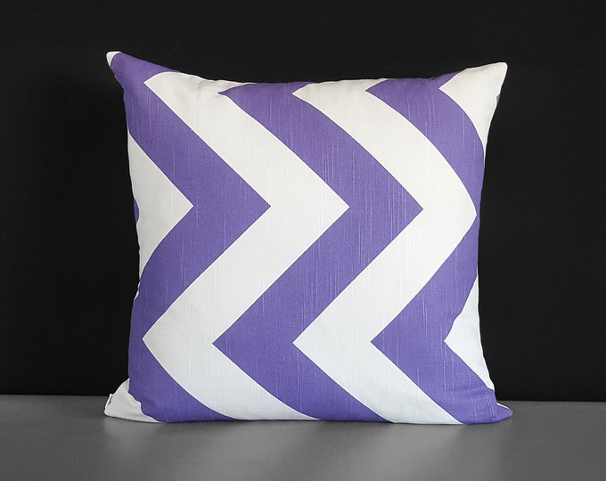 Large Chevron, Zippy Purple