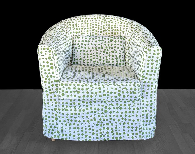 Custom Green Dotty IKEA TULLSTA Chair Slip Cover