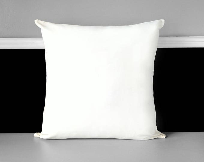 Solid White Pillow Cover