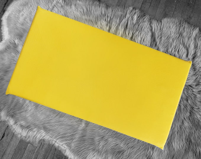 Solid Yellow IKEA Window Seat Cushion Cover