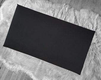 Solid Black IKEA HEMMAHOS Bench Pad Slip Cover