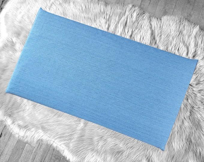Woven Blue Diamond Pattern IKEA STUVA Bench Pad Slip Cover