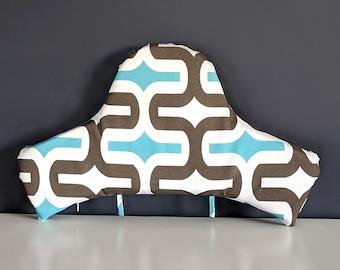 IKEA Highchair Cushion Cover for Klammig, Pyttig, Brown Turquoise Retro Print