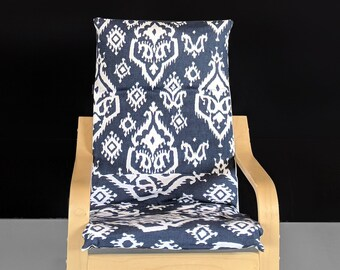 Navy Blue IKEA KIDS POÄNG Cushion Slipcover