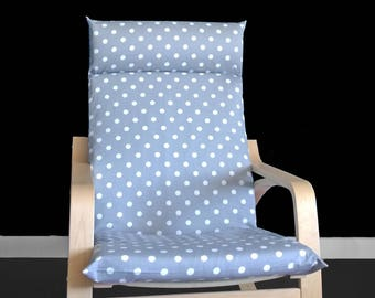 Polka Dot IKEA POÄNG Cushion Chair Cover, Summer Custom Ikea Decor