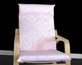 Pink Damask IKEA POÄNG Cushion Slipcover