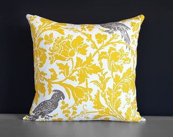 "Yellow Cockatoo Pillow Cover 18"" x 18"""